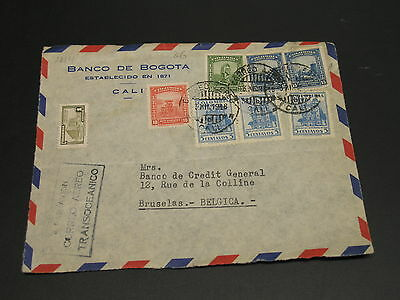 Colombia 1948 airmail cover front to belgium *9214