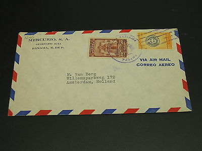 Panama 1952 airmail cover to Netherlands *9240