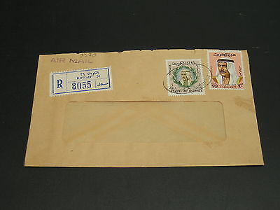 Kuwait 1975 registered airmail cover to Germany *9370