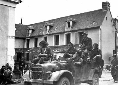 6x4 Gloss Photo ww66A Normandy Orne Trun 1944 2