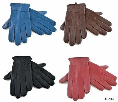 Ladies Premier Quality 100% Genuine Sheepskin Leather Winter Warm Lined Gloves
