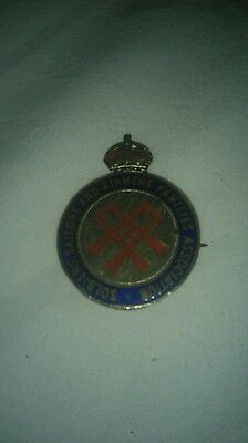 Soldiers sailors and airmens families association badge