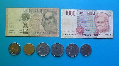 Italian Banknotes And Coins