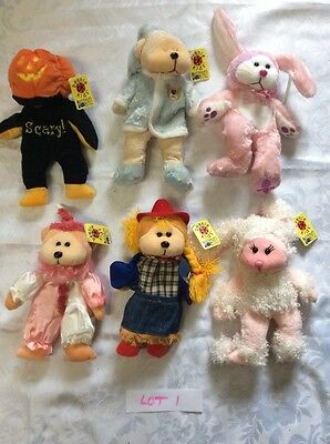 Beanie Kids X 6. NEW.  Never Played with.  ( Lot  One.)