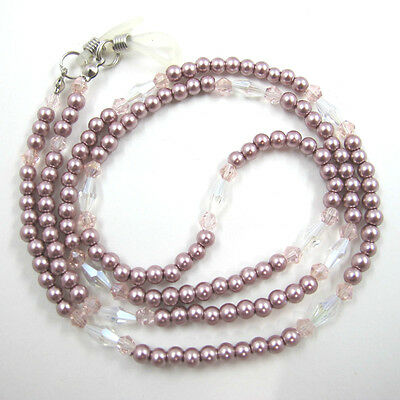 Pearl Crystal Sunglasses Glasses Spectacles Spec Eyeglass Chain Holder Cord