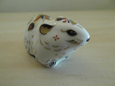 Bank Vole - Royal Crown Derby paperweight  2004 - collectors guild - Gold button
