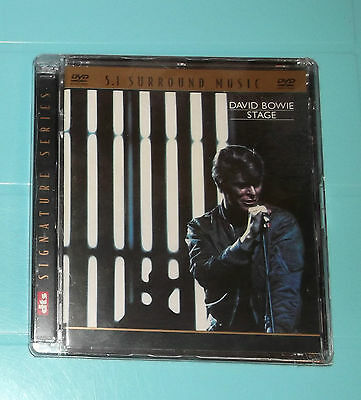 DAVID BOWIE- STAGE  , ultra rare DVD-A, 5.1 Sound , New and Sealed