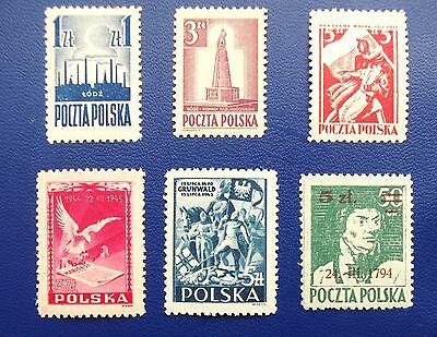 POLAND - 1945 Collection of MLH & MH(1) Stamps