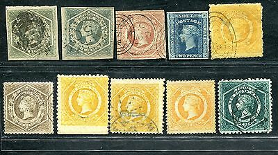 Australia New South Walses Nsw N.s.w 10 Diadems To 1/ Imperf Perf Usorted Used