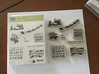 Stampin' Up! Retired Cosy Christmas Red Rubber
