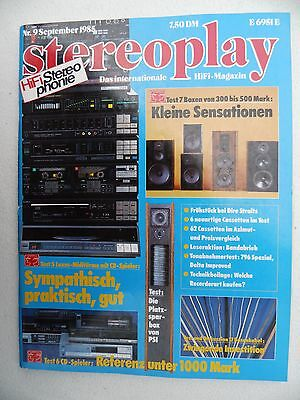 Stereoplay 9/85 Psi Quadrature,akai Cd A7,meridian Mcd,philips Cd 150,sony Cp667