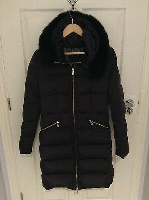massimo dutti quilted down coat eu L/uk 12 excellent condition