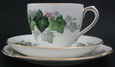 DUCHESS bone china cup, saucer and plate trio. Made in England.