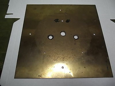 Unfinished Brass dial back plate for Longcase Clock - As Shown