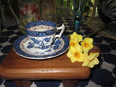 Booths Real Old Willow Espresso Coffee  Cup And Saucer