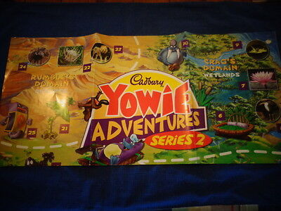Yowie Yowies, * POSTER * CADBURY YOWIES SERIES 7 PLAYMATES * FULL SIZE POSTER