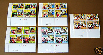 Lesotho. Youth and Developnent.1974, Rare set of 4 stamps per corner. Mint