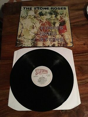 The Stone Roses Turns Into Stone 1992 UK VINYL LP SILVERTONE 1st Pressing Indie