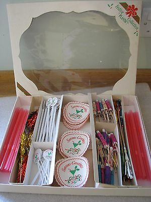 Vintage Cocktail Xmas Drink Glass Table Party Decorations Piks Straws Stirrers