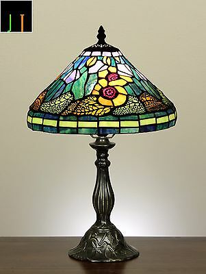 Tiffany Sun Flower Style Stained Glass Table Lamps Light Leadlight Home Decor