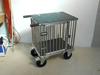 "Titan Medium 1 Berth Aluminium Dog Show Trolley with 8"" All Terrain Wheels"