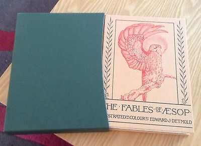 Folio Society The Fables Of Aesop Illustrated By Edward J Detmold Hardback Book