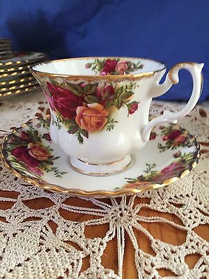 "Royal Albert ""Old  Country Rose"" Cup & Saucer"