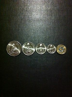 Full Set 50th Aniversary Coins Plus Blue Ring Olympic Coin All Out Of Mint Bag