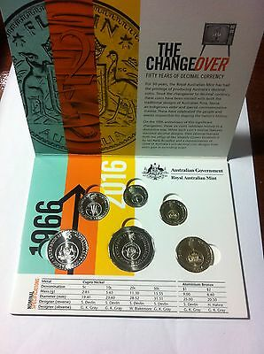 Full Set Of Changeover Coins In Limited Edition Folder UNC