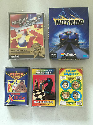 Amstrad Games (Hot Rod, Marble Madness, Software Star, Masterchess, Quiz Quest)