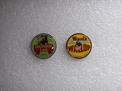 2 Woods Shropshire  Brewery  Lapel Badges