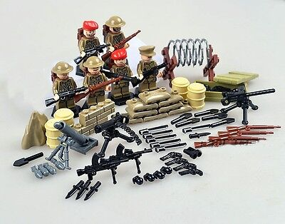 WW1 British soldiers minifigures commemoration 100 years