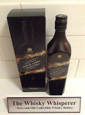 JOHNNIE WALKER 700ml BLACK LABEL - Black shadow Special Edition In Box - RARE!!!