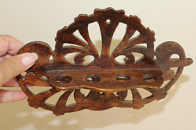 Wooden Pipe Rack, Treen, Vintage, Traditional
