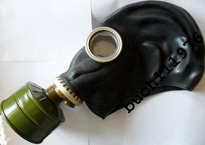 RUSSIAN RUBBER GAS MASK RESPIRATOR GP-5 Black Military  new , size 0,1,2,3,4