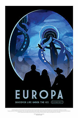 Europa Space Exploration Poster 440mm x 294mm Nasa Jupiter Moon Space Shuttle