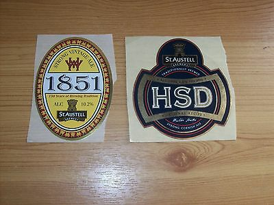 2 St Austell Brewery Beer Labels