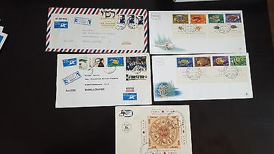 Israel  5 FDC Covers