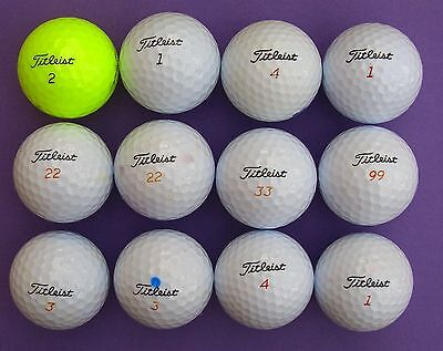 12 Mixed TITLEIST Pearl & Grade A used Golf Balls including VELOCITY