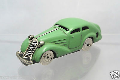 Schuco 1001 Patent Car dark green US-Zone Germany (1946-'52) Nachkrieg Wendeauto