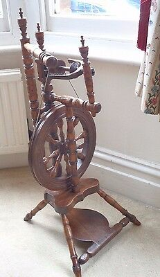 Beautiful antique 'castle style' Spinning Wheel poss. 19th C Scottish