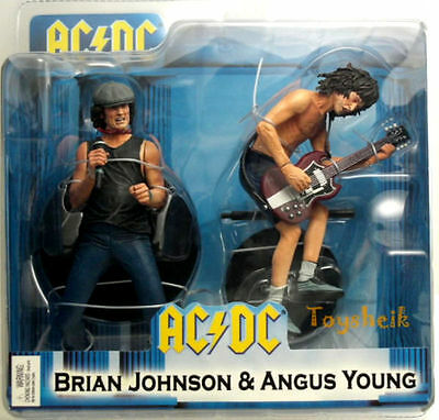 Neca Ac/dc Ac Dc 2Pack Brian Johnson & Angus Young Action Figure Nuovo New