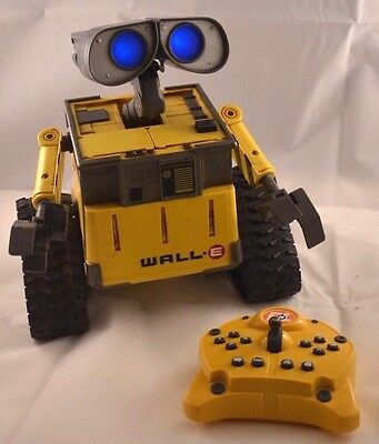"""Rare - U Command Infra Red Remote Control Wall-E Thinkway Toys 10"""" Disney Tested"""