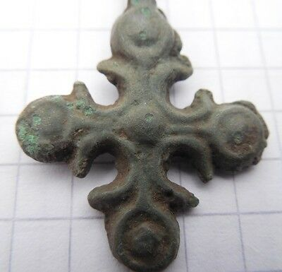 Viking period Bronze Cross 900-1300 AD  VF++
