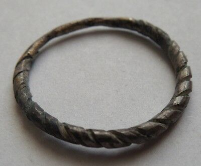 The subtle silver ring Viking period 1.65 g.1200-1300 AD VF++