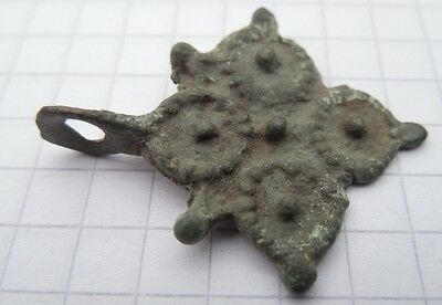 Viking period Bronze Cross 900-1300 AD  VF+++