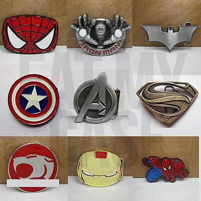 Awesome Superhero Belt Buckle Collection Mens Novelty Gift Xmas Marvel Dc Comics