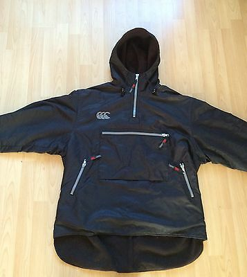 Canterbury Fleeced Lined Slightly Puffed Rugby Coat/jacket Size Large Adult