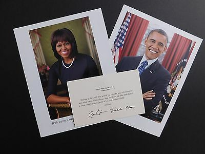 OBAMA Welcome to the World BABY GREETING card + Michelle Barack WHITE HOUSE pic