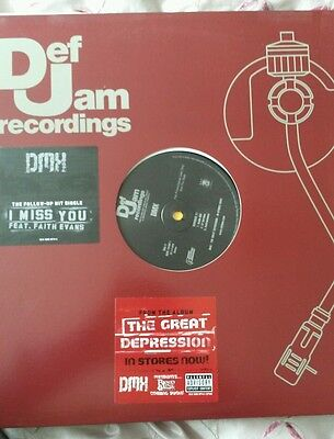 "DMX ‎– I Miss You / Number 11 12"" promo single"